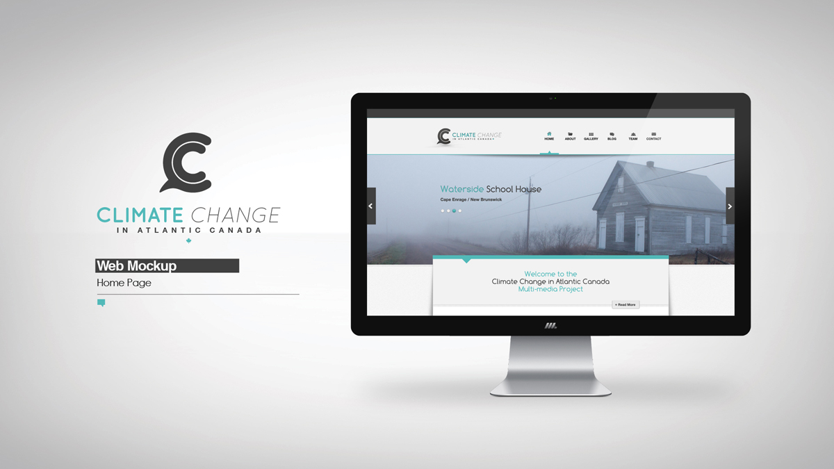 Climate Change in Atlantic Canada \ Web Mockup